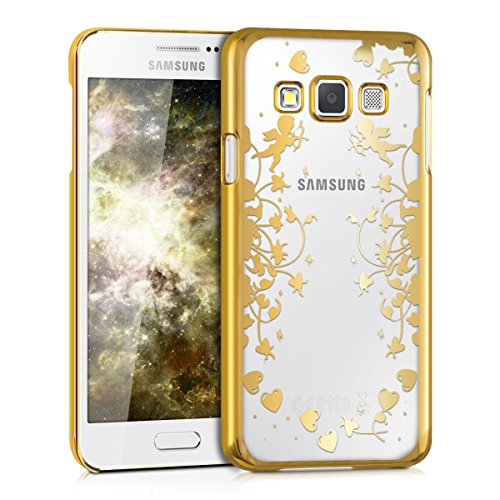 kwmobile Elegant and light weight Crystal Case Design Cupide for > Samsung Galaxy A3 (version 2015) < in gold transparent