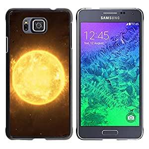 Caucho caso de Shell duro de la cubierta de accesorios de protección BY RAYDREAMMM - Samsung GALAXY ALPHA G850 - Sun Star Yellow Space Universe Burning Planet
