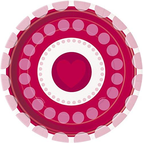 Radiant Hearts Valentine's Day Dessert Plates, 8ct -