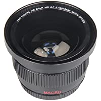 BiG Digital 58mm 0.42x SEMI FISHEYE Wide-angle lens with Macro close-up attachment for Canon Cameras.