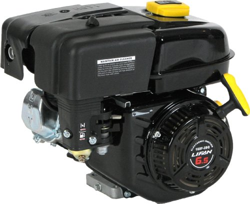 Lifan LF168F-2BQ 6.5 HP 196cc 4-Stroke OHV Industrial Grade Gas Engine with Recoil Start and Universal Mounting Pattern ()