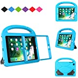 MENZO Kids Case for iPad Mini 3/2/1 (NOT for iPad Mini 4), Light Weight Shockproof Handle Stand Kids Case with Built-in Screen Protector for iPad Mini 1/Mini 2/Mini 3, Blue