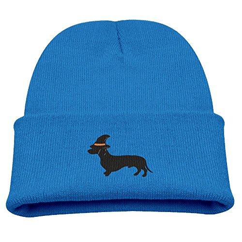 Wooly Bear Dog Costume (BaPaLa Children's Halloween Black Dog Skull Cap Beanie Soft Winter Knitted Hat)