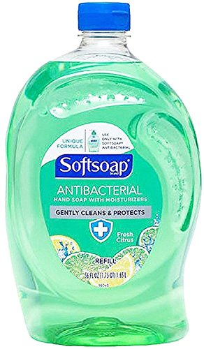 Softsoap Antibacterial Liquid Hand Soap, Fresh Citrus 56 oz (Pack of 2)