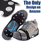 Ice Cleat Spikes Crampons and Tread for Snow & Ice,The Only Innovative Design on Amazon,Attaches Over Shoes/Boots for Everyday Safety in Winter,Outdoor,Slippery Terrain.