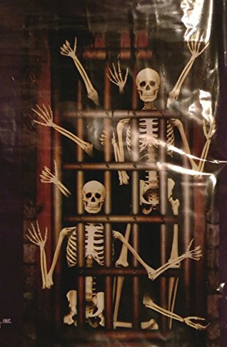 Halloween Wall Decoration Skeletons in Dungeon Creepy, Scary (Halloween Wall Murals)