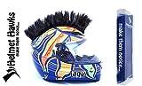 Helmet Hawks Motorcycle Helmet Mohawk w/ Sticky Velcro Adhesive - Jet Black
