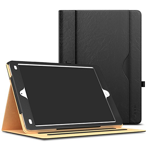 MoKo Case Fit iPad 2/3 / 4 - Slim Folding Stand Folio Cover Fit Apple iPad 2 / The New iPad 3 (3rd Gen) / iPad 4 with Auto Wake/Sleep and Document Card Slots, Multiple Viewing Angles, Black (Gen Case 3rd Ipad)