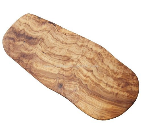 Naturally Med Olive Wood Cheese Board 14'' with Set of 3 Cheese Knives by Naturally Med (Image #2)