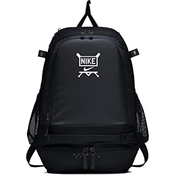 09e6aa2224cdb Amazon.com   Nike Vapor Select Baseball Backpack (Black White)   Sports    Outdoors
