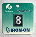scout numbers - Girl Scout Numbers, Green #8