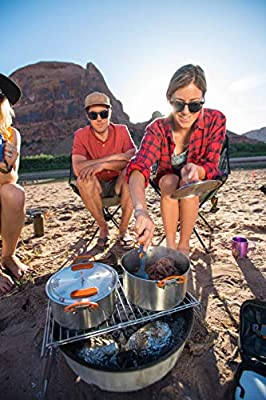 GSI Outdoors Camping Cookware Folding Campfire Grill