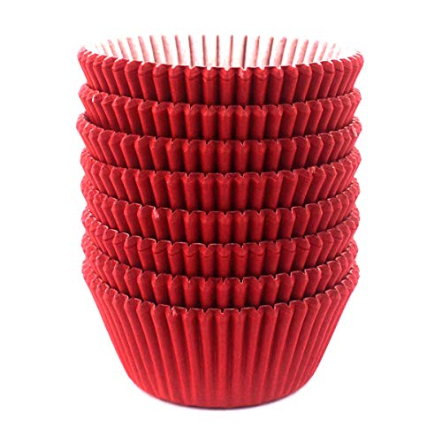 Eoonfirst Standard Size Baking Cups 200 Pcs - Red Liners Cupcake