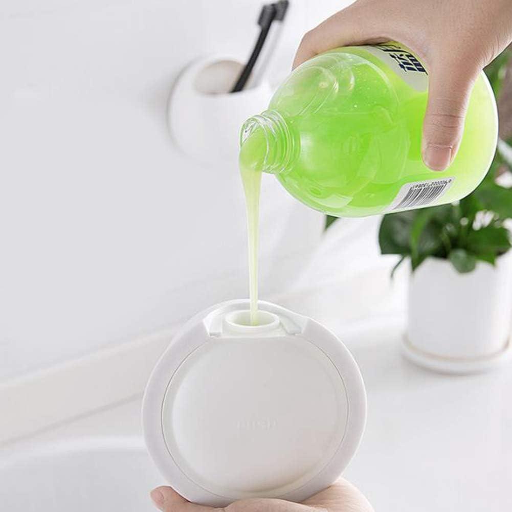 elegantstunning Flacone Contenitore Gel Doccia da 350 ml con Dispenser di Sapone a Parete e disinfettante per Bagno for Home