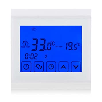 Termostato Beok programable con pantalla táctil, para suelo radiante, blanco, 230.00V: Amazon.es: Bricolaje y herramientas