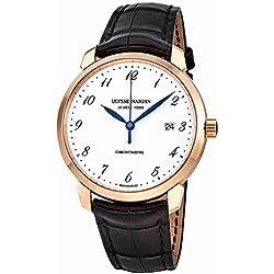 Ulysse Nardin Classico Automatic White Enamel Dial Mens Watch 8152-111-2-5GF