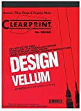 Clearprint 1000H Design Vellum Sheets, 16 lb., 100% Cotton, 24 x 36 Inches, 100 Sheets Per Pack, Translucent White, 1 Each (10201528)