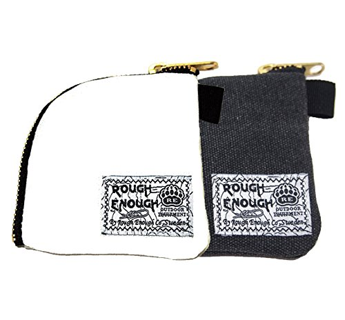 Rough Enough Classic Vintage Fancy Simple Durable Canvas Small Mini Portable Earphones Accessories Coin Pouch Holder Purse Wallet In Flat Sector Shape With Gold Zipper for Outdoor Student Boy Set