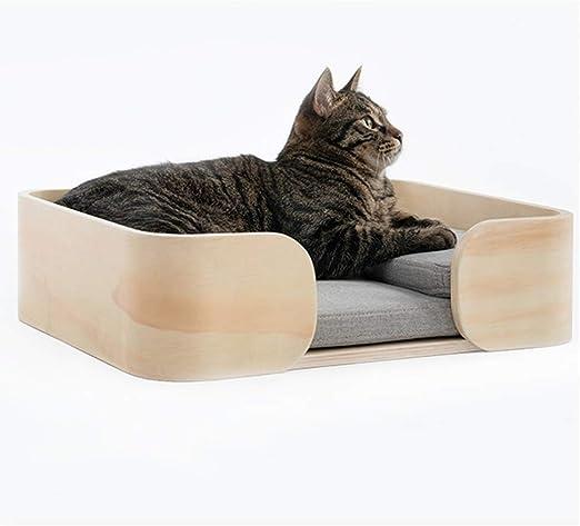 pequeño para gatos y perros o Caja De Madera Personalizado cama del animal doméstico