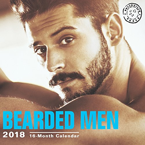Bearded Men Hot Guys 12 x 12 inch Sexy Calendar, Belleville Press, 16 Month: September 2017 - December 2018