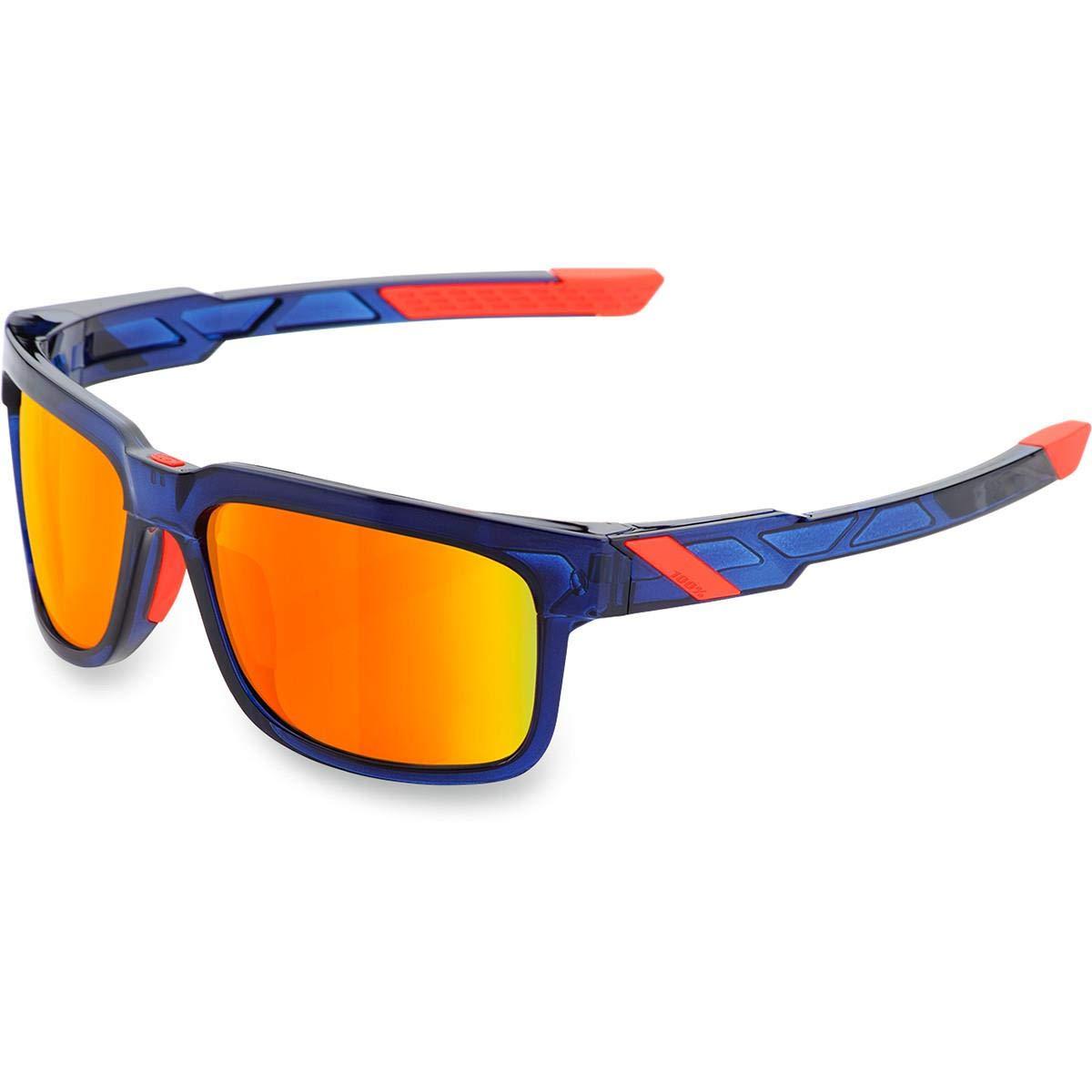 Unbekannt 100% Met – 015 – 43 Sonnenbrille Unisex Erwachsene, Rot/Blau
