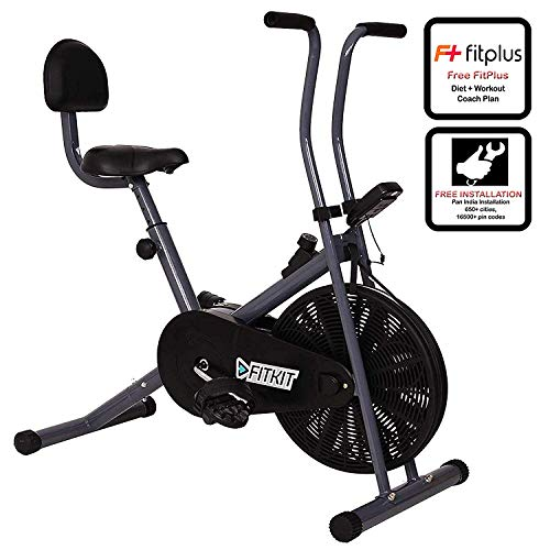 Fitkit FK500 Steel Airbike with Free Installation assistance (Black/Grey)