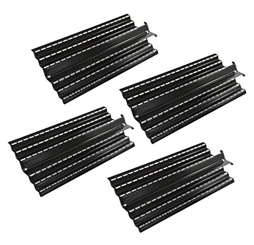 Hongso PPC0044 (4 Pack) Porcelain Steel Heat Plates,Heat Diffusers Replacement for Charbroil 464224411 466224411, Kenmore 415.16135110 41516135110 415.16155110 Gas Grill, G524-0032-W1