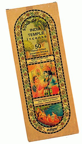 Incense Sticks Temple (1 X India Temple Incense - Song of India - 50 Stick Medium Box)