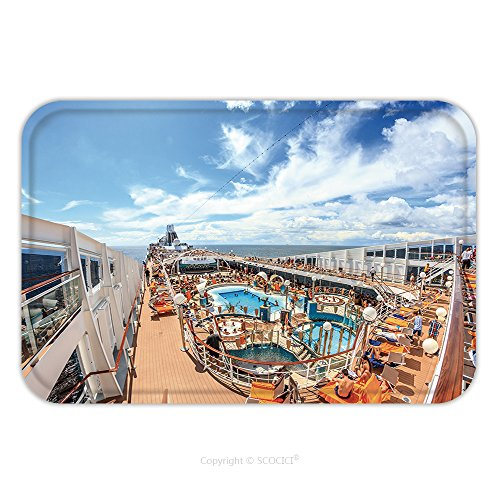 Flannel Microfiber Non-slip Rubber Backing Soft Absorbent Doormat Mat Rug Carpet Msc Cruise Liner July Luxurious Cruise Ship Msk Musica Upper Deck With A Solarium 454144759 for (Series 1 Deck Gas Oven)