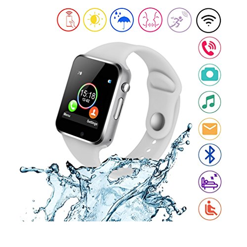 SUNETLINK Smart Watches, Anti-Lost Touch Screen Bluetooth Smart Watch with Camera,Cell Phone Watch with Sim Card Slot,Smart Wrist Watch Compatible with Android Phones iOS for Kids Men Women by SUNETLINK