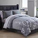 Ellison Great Value Bainbridge 8 Piece Bed in a Bag, Full, Purple
