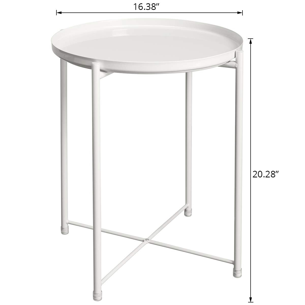 Amazoncom Hollyhome Tray Metal End Table Sofa Table Small Round