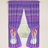 Disney Junior Sofia the First Princess Drapes Panels Curtains, Set of 2 (42'' x 63'')