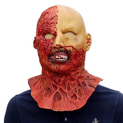 LBAFS Halloween Devil Mask Horror Shaped Headset Alien Old Man Head Set Room Haunted House Zombie ()
