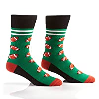Yo Sox Sport Inspired - Funky Funky Men's Crew Socks for Dress or Casual Wear Size 7-12 for Dress or Casual Wear Size 7-12