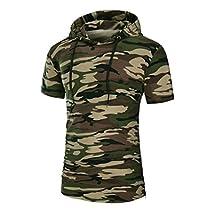 Clearance! Paymenow Mens Hipster Hip Hop Short Sleeve Crop Pullover Hoodies Zipper Sides Shirts Blouse