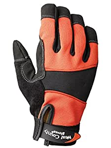 West County 014BRM Women's Work Glove, Brick, Large