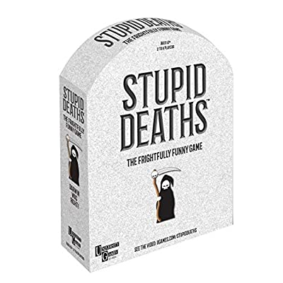 University Games Stupid Deaths The Party Game, Funny Card Game & Board Game for Adults & Teens Ages 12 & Up (01404): Toys & Games