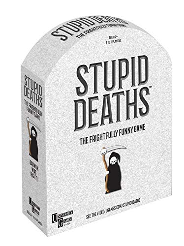 University Games Stupid Deaths A Great Halloween Party Game, Funny Party Card Game & Board Game for Adults & Teens Ages 12 & Up