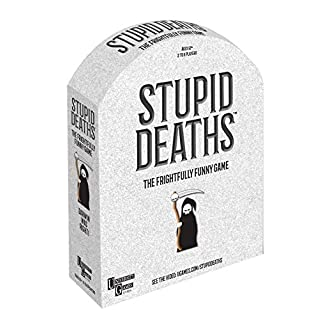 University Games Stupid Deaths The Party Game, Funny Card Game & Board Game for Adults & Teens Ages 12 & Up (01404)