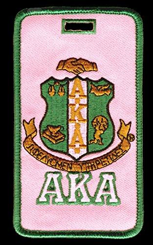 Alpha Kappa Alpha (AKA) Sorority Embroidery Id/luggage Tag -