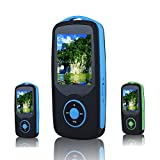 FecPecu Lossless Sound 4GB Bluetooth MP3 Player Hi-Fi 50 Hours Playback Music Player Portable Audio Player Expandable Up to 64GB (Blue)