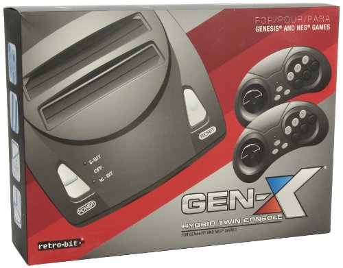 Retro-Bit Gen X Hybrid Twin Console For NES and Genesis Games