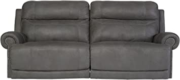 Signature Design by Ashley Austere 2-Seat Reclining Power Sofa Gray