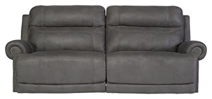 Ashley Furniture Signature Design   Austere Recliner Sofa   1 Touch Power  Reclining Couch   Contemporary