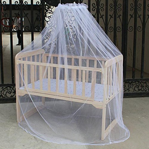 AMAZZANG -White Mosquito Net Netting Canopy for Toddler Nursery Crib Bed Cot - Singapore Bag Ans