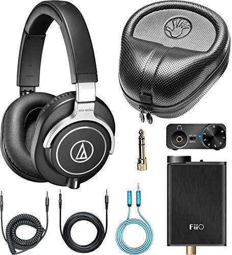 Audio-Technica ATH-M70x Closed-Back Dynamic Headphones Bundle with