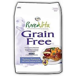 Tuffy'S Pet Food 131643 Tuffy Pure Vita Grain Free Turkey And Sweet Potato Food For Dogs, 25-Pound
