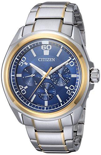 Citizen Men's Quartz Stainless Steel Casual Watch, Color:Two Tone (Model: BU2064-58L)