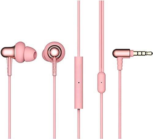 1MORE Stylish Dual-dynamic Driver In-Ear Headphones Comfortable Lightweight Earphones with 4 Fashion Colors, Noise Isolation, MEMS Mic and In-Line Remote Controls for Smartphones PC Tablet – Pink